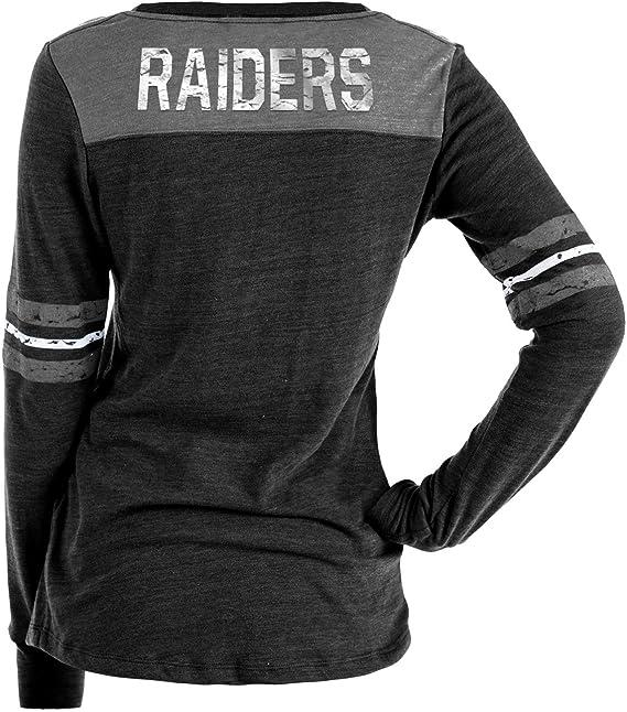 RAGLAN Oakland Raiders New Era NFL Damen Jersey Top