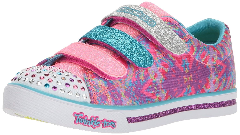 Kids Girls Sparkle Glitz-Pop Party Sneaker, Navy/Multi, 13.5 Medium US Little Kid Skechers