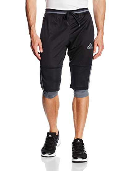 adidas CON16 3/4 Pantalón, Hombre, Negro (grivis), XS