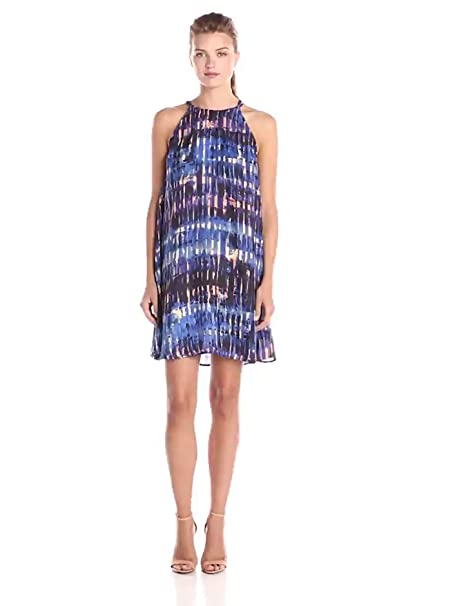 89902b9bd74dd BB Dakota Women's Aubree Shimmer Reverse Trapeze Dress, Multi, Large ...