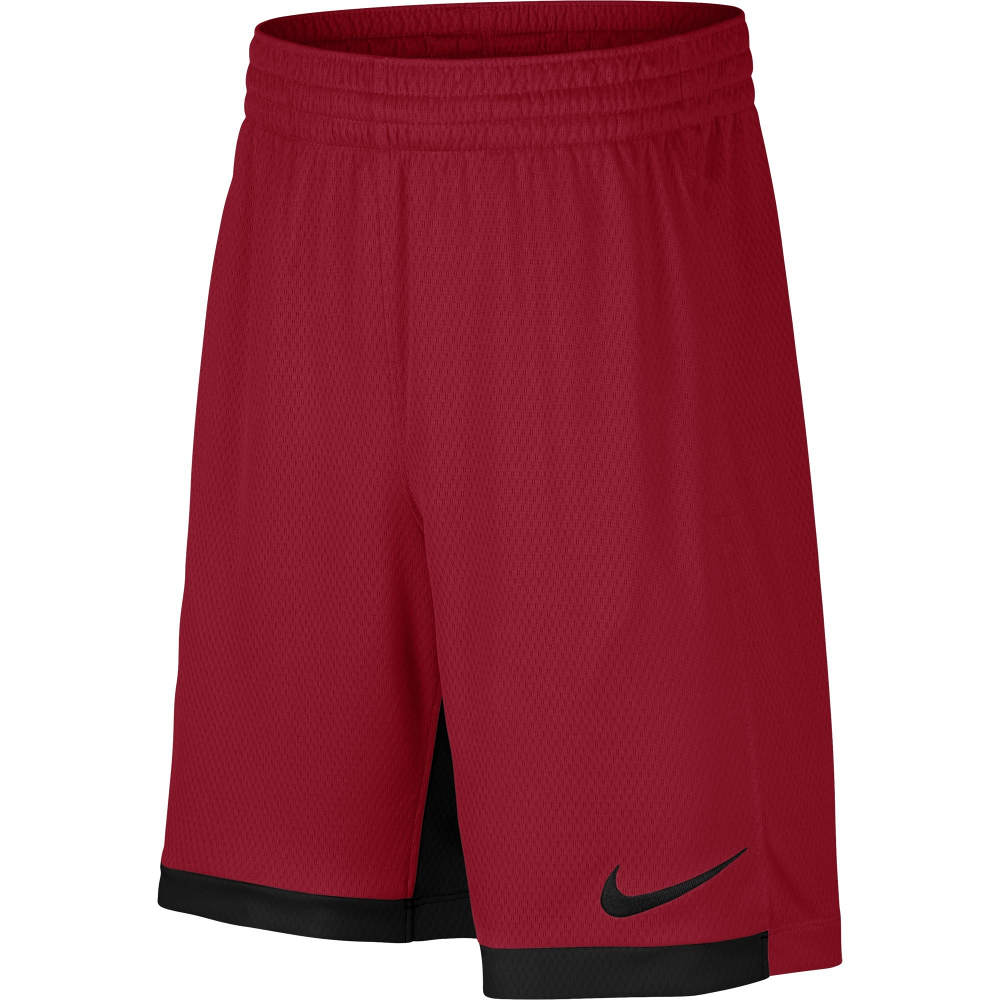 NIKE Boys' Dry Trophy Athletic Shorts, Gym Red/Black/Black, X-Small