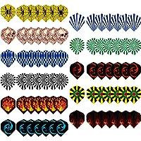 Kulannder Dart Flights Slim Dartflights Set van 77 dartflights, standaard dartpijlen, flights, gemengde dartflights…