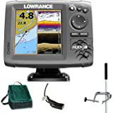 Lowrance Hook 5 Mid/High DownScan Combo Fischfinder Echolot GPS Portabel Master Plus