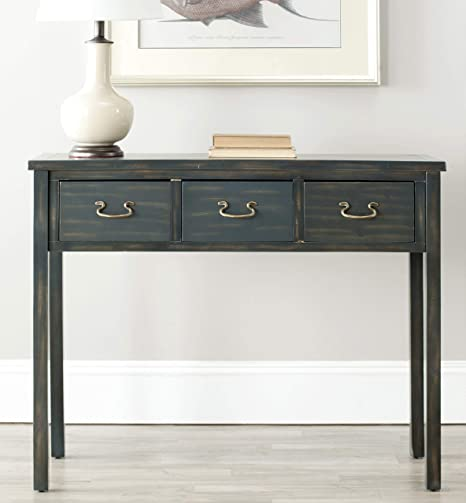 Amazon Com Safavieh American Homes Collection Cindy Steel Teal Console Table Furniture Decor