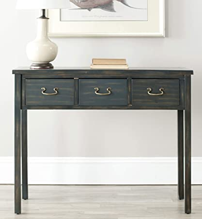Amazon.com: Safavieh American Homes Collection Cindy Steel Teal Console Table: Kitchen & Dining