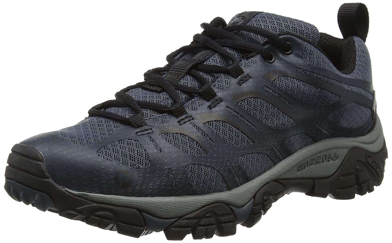 Merrell Moab Edge Waterproof, Zapatos de Low Rise Senderismo para Hombre Gris (Dark Slatedark Slate) 43 EU J36799