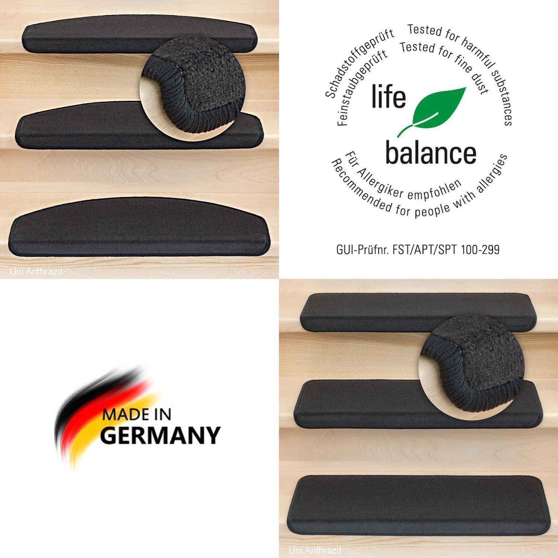 Kettelservice-Metzker Stufenmatten Vorwerk Uni Anthrazit Einzeln und Sparset's 10 Stück Rechteckig