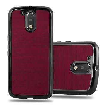 Cadorabo Funda para Motorola Moto G4 / G4 Plus en Woody Rojo ...