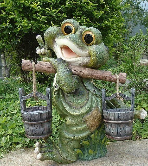 Rana XXL 40 cm Decoración alta Figuras de gnomo de jardín ...