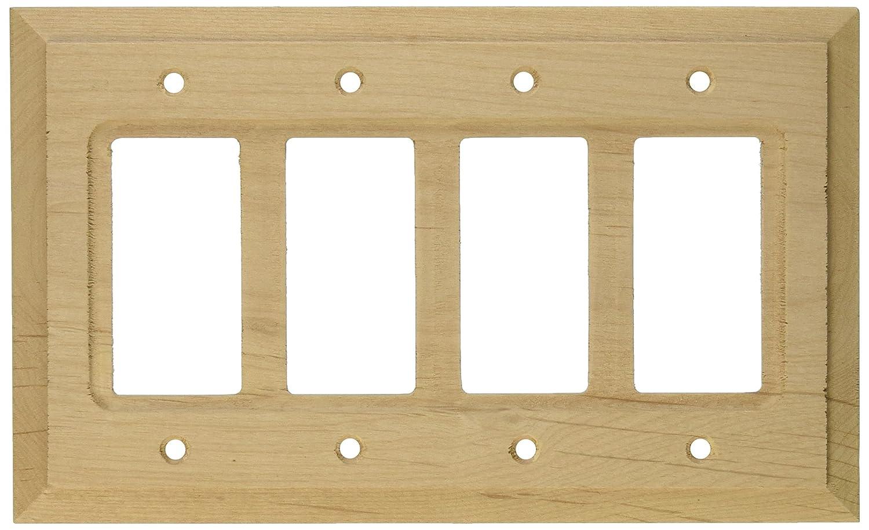 Amerelle 180R4 Baker Unfinished Alder Wood 4 Rocker Wall Plate ...