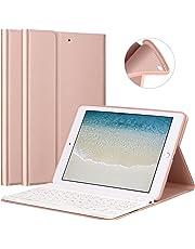 GOOJODOQ Custodia per Tastiera per iPad 2018/2017 9.7/ iPad Air, Cover+Tastiera