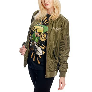 Zelda Skyward Sword logotipo chaqueta bomber verde oliva ...