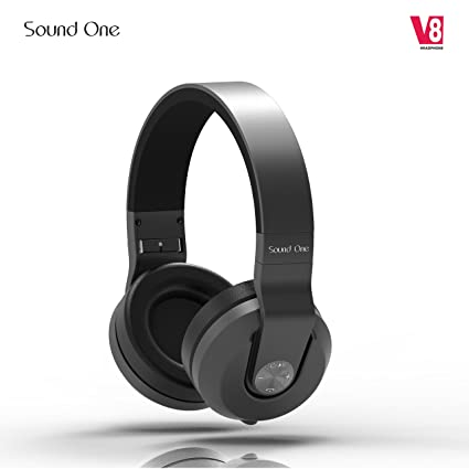 35804ca4a46 Image Unavailable. Image not available for. Colour: Sound One V8 Bluetooth  Wireless Headphones with Mic ...