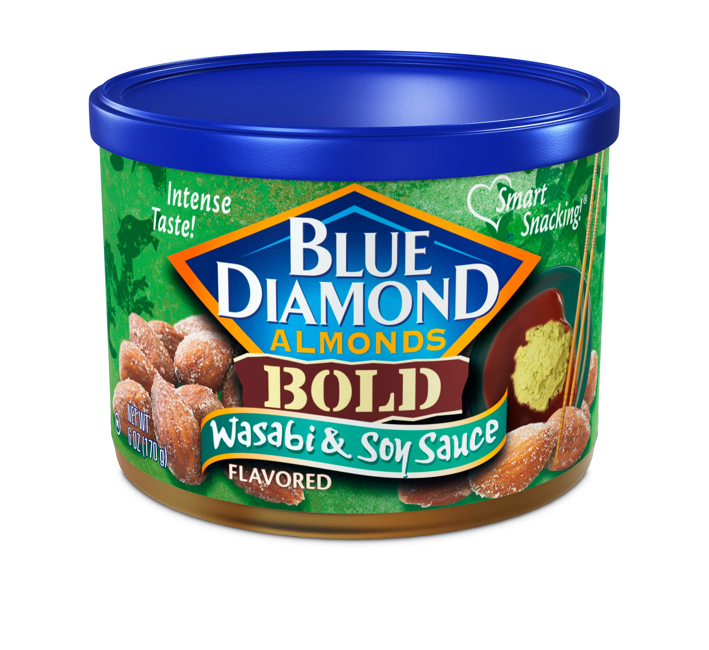 Blue Diamond Almonds, Bold Wasabi & Soy Sauce, 6 Ounce (Pack of 6)