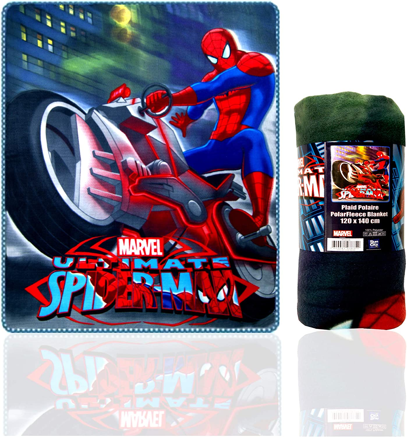 Official Licenced Spiderman Blanket  Soft Touch Fluffy Coral Fleece