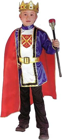 Costume Travestimento da Re Rosso per Bambini Ragazzi
