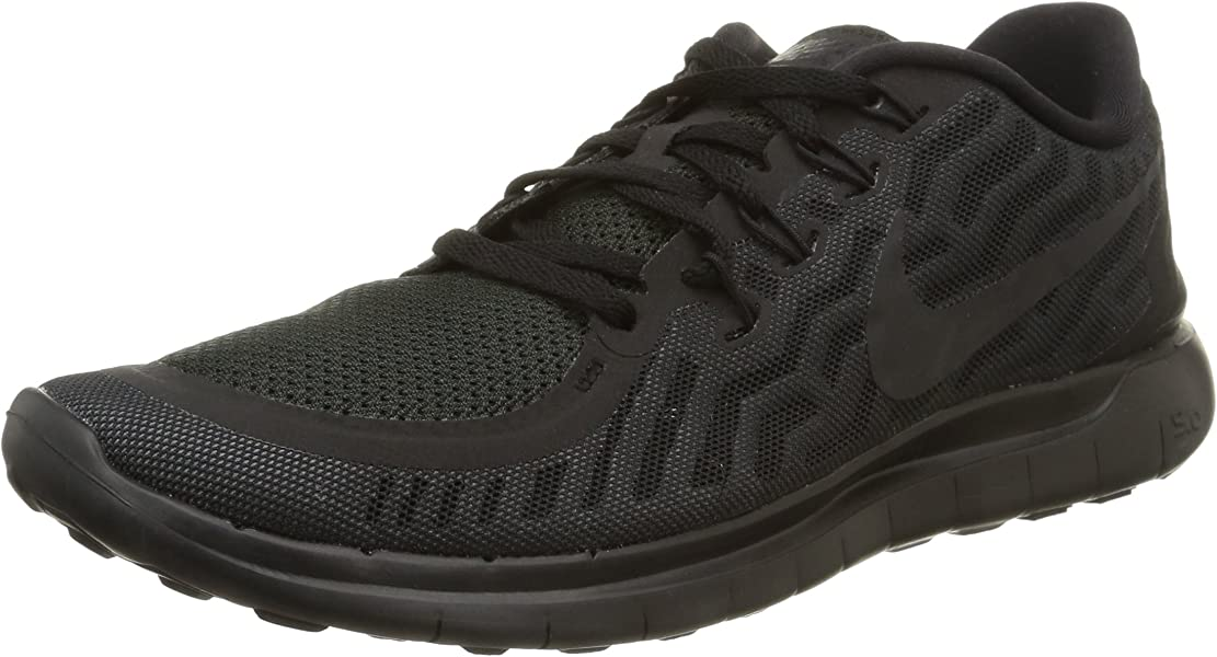 new styles 76ce5 41e74 Amazon.com   NIKE Men s Free 5.0 Running Shoes Black Anthracite Size 8 M US    Road Running