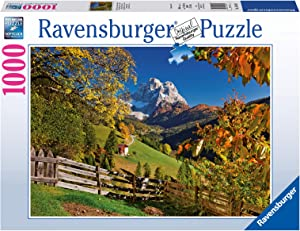 Ravensburger Mountains in Autumn 1000 Piece Jigsaw Puzzle for Adults – Every piece is unique, Softclick technology Means Pieces Fit Together Perfectly