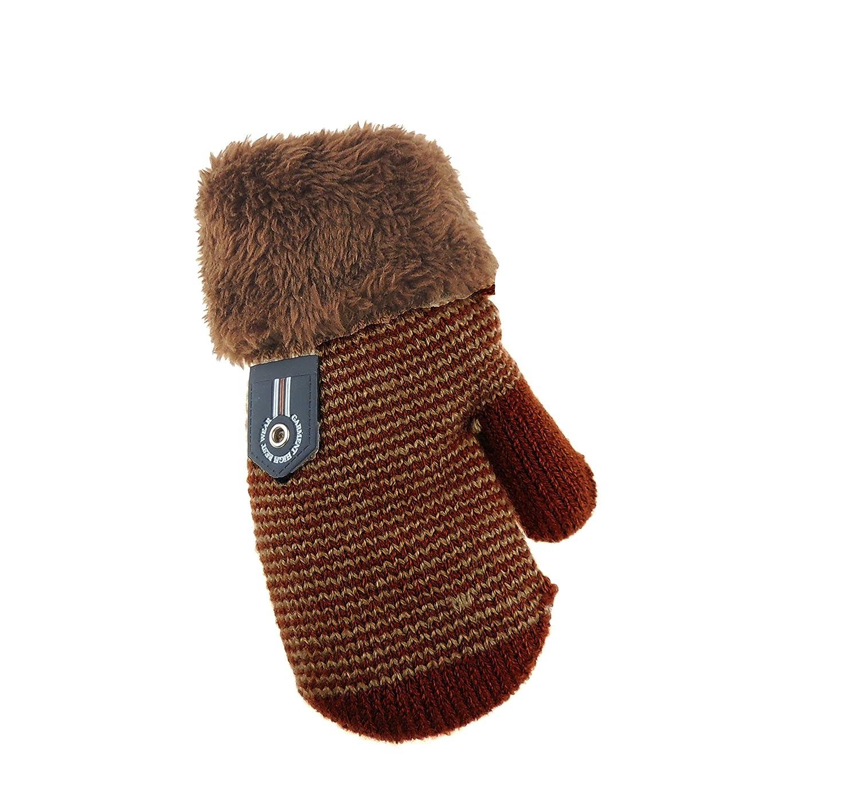 warm Schokoladenbraun Fleece-Futter 3 Jahre Winter-F/äustlinge f/ür Babys 1
