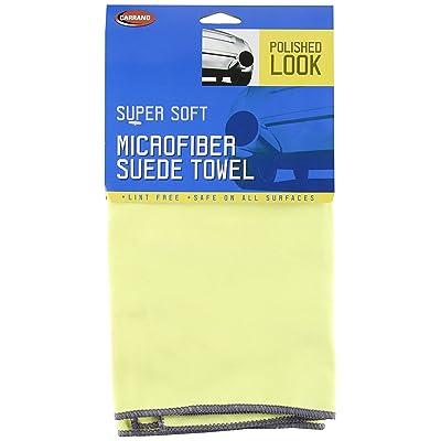 "Carrand 40125 16"" x 16"" Microfiber Suede Polish Cloth: Automotive"