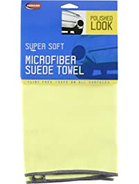"""Carrand 40125 16"""" x 16"""" Microfiber Suede Polish Cloth"""