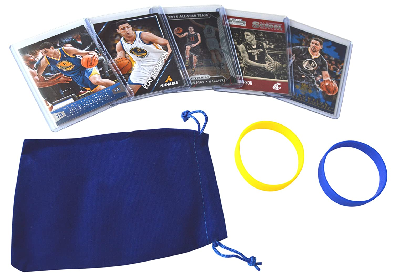 Klay Thompson Golden State Warriors Trading Cards 5 # 11 Assorted Basketball Cards Bundle