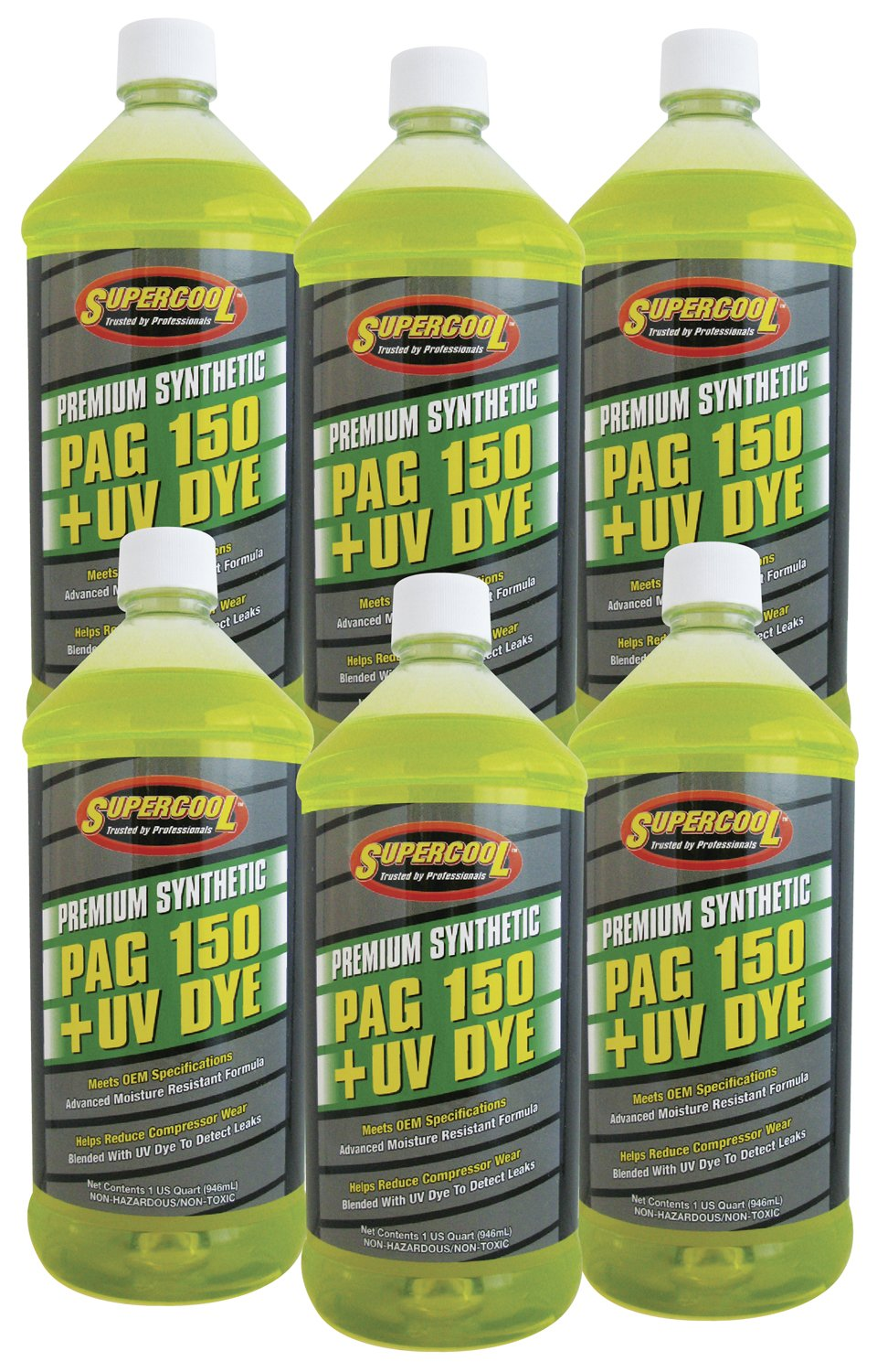TSI Supercool P150-32D-6CP 150 PAG Viscosity Oil Plus U/V Dye, 32 oz, 6 Pack by TSI Supercool