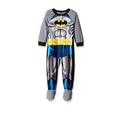 AME Batman Little Boys Boys Gray & Multi Color Micro Fleece Blanket Sleeper (2T)