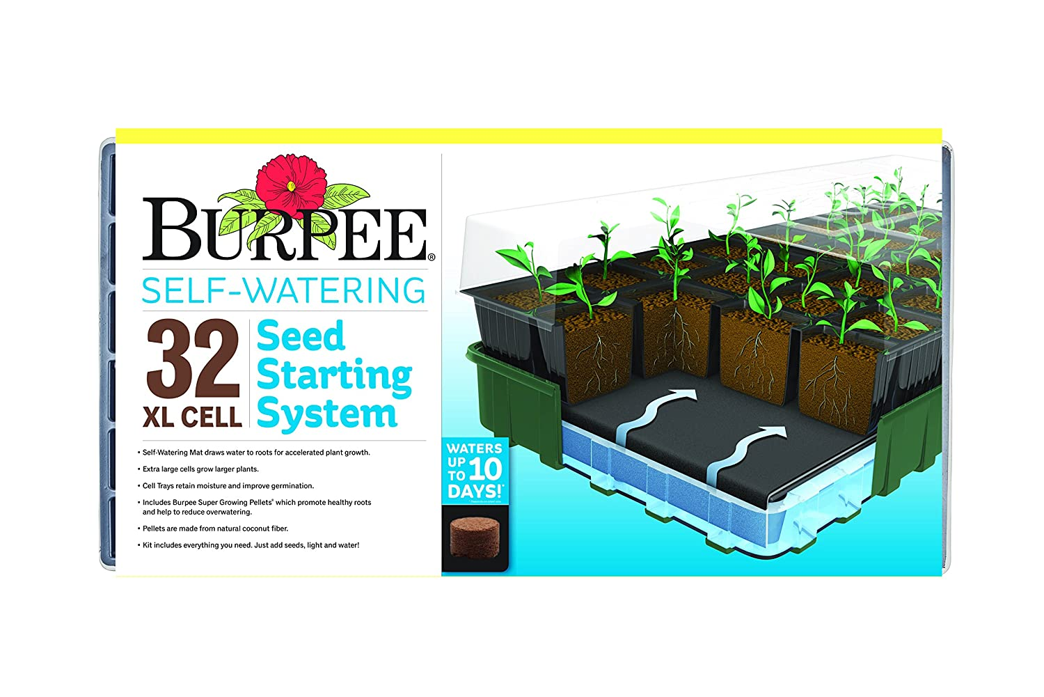 Burpee 32 Cell Xl Ultimate Self-Watering Seed Starting Kit