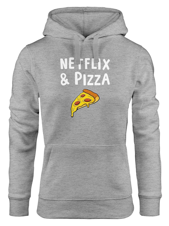 Hoodie Herren Netflix /& Pizza Serienjunkie Kapuzen-Pullover Moonworks®