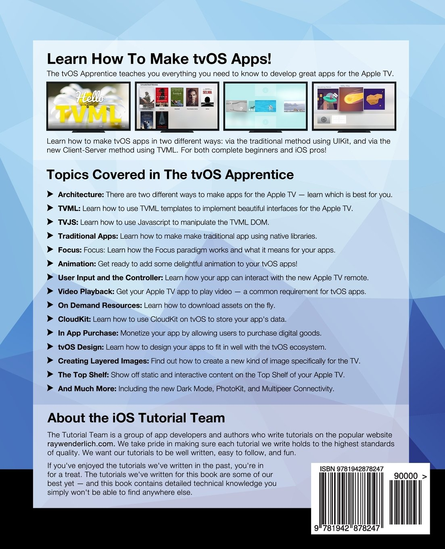 Amazon com: tvOS Apprentice Second Edition: Beginning tvOS