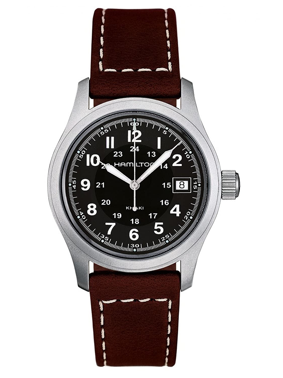 Amazon.com: Hamilton Men's H68411533 Khaki Field Black Dial Watch: Hamilton:  Watches