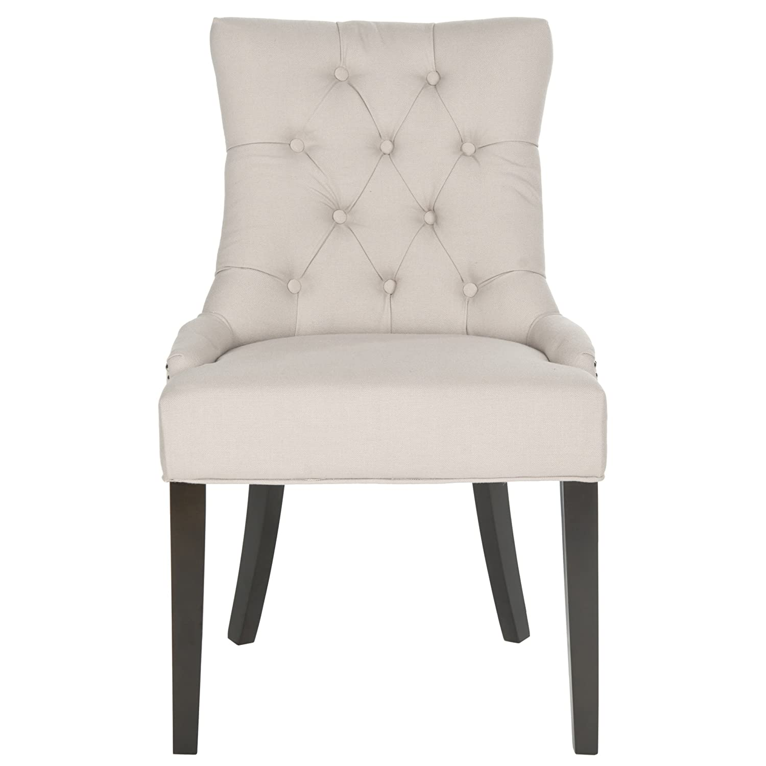 amazoncom safavieh mercer collection harlow ring chair taupe set of 2 chairs