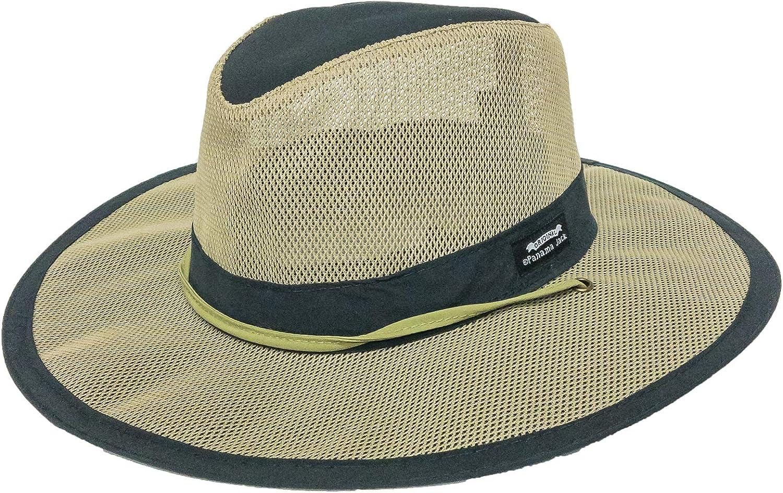 "Mesh Crown Safari Sun Hat, 3"" Brim, Adjustable Chin Cord, UPF (SPF) 50+ Sun Protection"