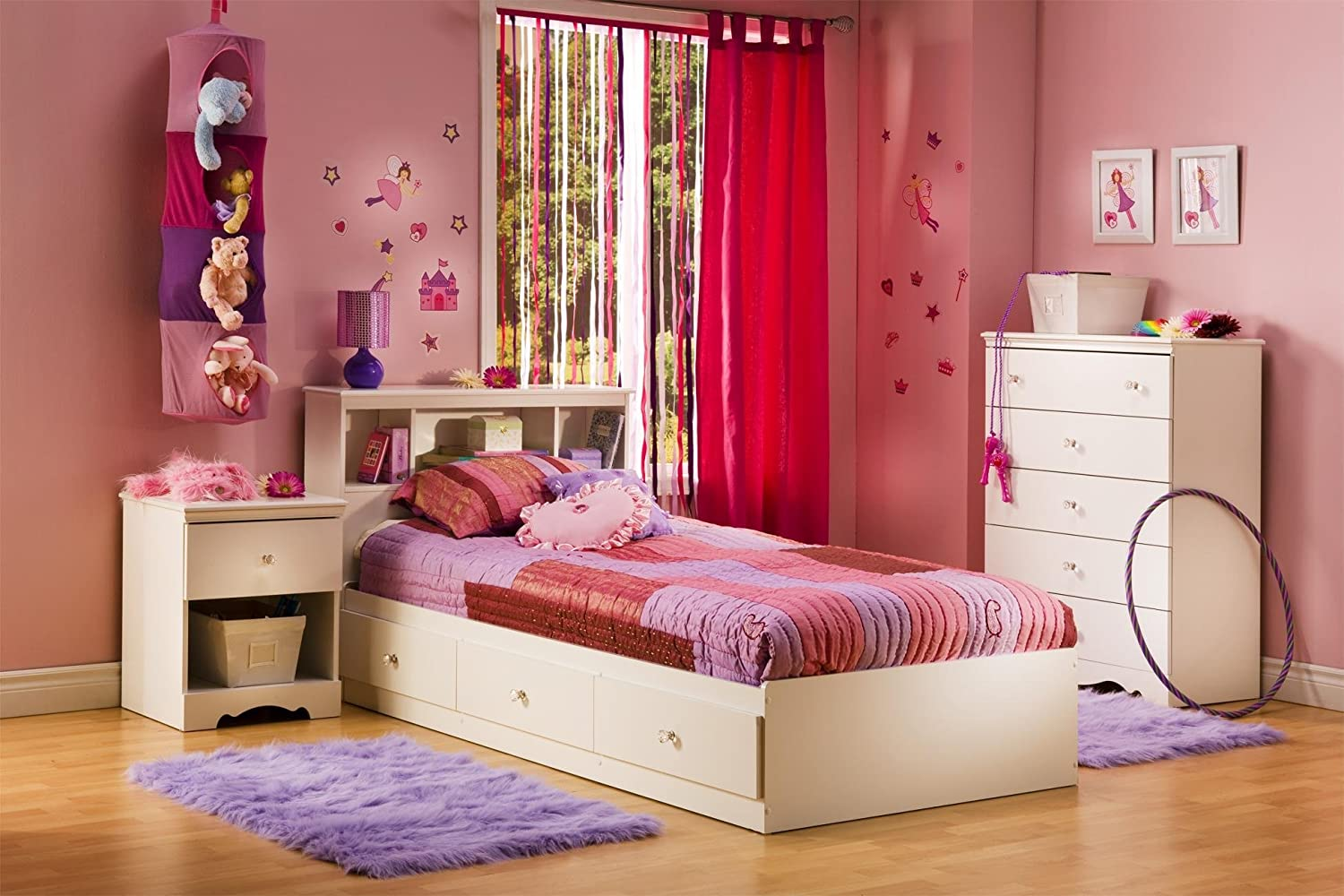girls bedroom sets furniture. Amazon com  South Shore Crystal Kids Wood Mates Storage Bed 4 Piece Bedroom Set in Pure White Furniture Sets