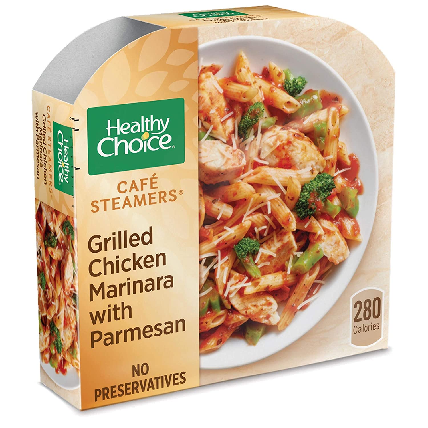 Healthy Choice Cafe Steamers Grilled Chicken Marinara with Parmesan, Frozen Meal, 9.5 OZ