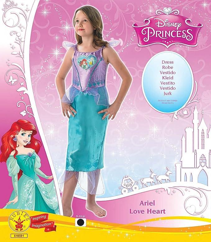Ariel - Loveheart Vestido - Disney Princess - Chidlrens Disfraz ...