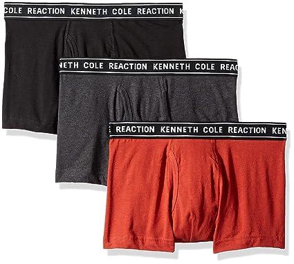 6c7e9e699c1777 Kenneth Cole REACTION Men's Cotton Stretch Trunk Underwear, Multipack,  Light Grey, Charcoal Heather