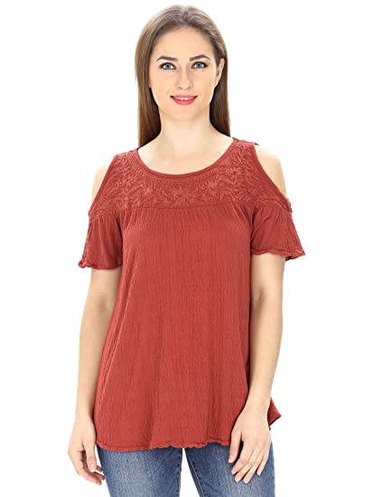 MansiCollections Cold shoulder Top For Women
