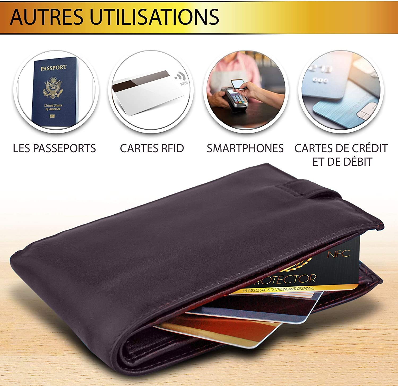 passeport cadeau pour femmes et homme Cartes de blocage pour portefeuille cliphalter carte didentit/é Protection de cartes de cr/édit NFC carte bancaire /Émetteur Carte de protection RFID