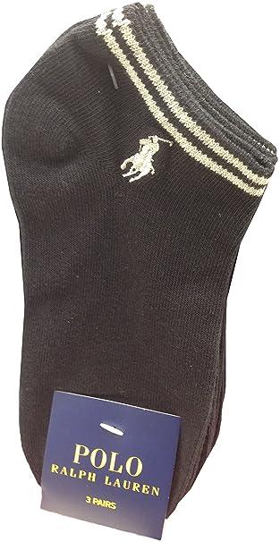 Polo by Ralph Lauren, 3 unidades Classic algodón deporte calcetines zapatos, talla única Negro negro: Amazon.es: Ropa y accesorios