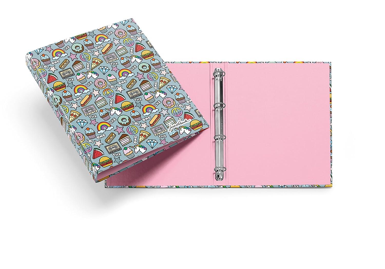 Jordi Labanda 20876 - Carpeta stickers (DIN A4, 210 x 297 mm, 4 anillas de 25 mm): Amazon.es: Oficina y papelería
