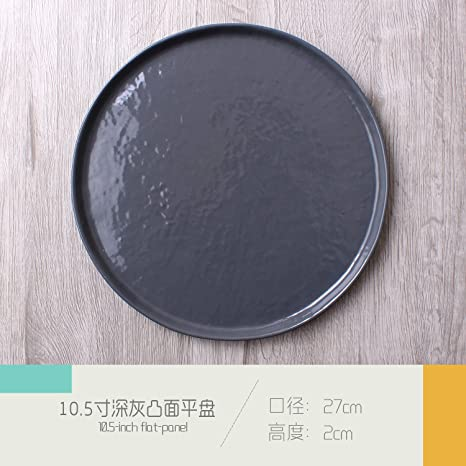 Cubertería Swing Set_retro disco de cerámica plano japonés mesa de restaurante, panel plano de 10