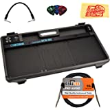 Boss BCB-60 Pedal Board Bundle with Instrument Cable, Patch Cable, Picks, and Austin Bazaar Polishing Cloth