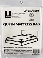 UBoxes Queen Mattress Poly Covers, 61 x 15 x 90 inch,