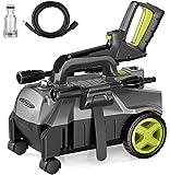 Hochdruckreiniger, Autlead 100 bar 390 L/H 1400W Elektrischer Hochdruckreiniger, mobiler und tragbarer, mit Aluminiumpumpe und einstellbarer 3-in-1 Düse, für Haushalt, Garten, Auto - HP01A