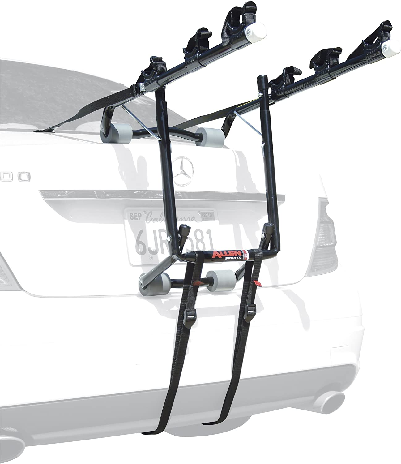 3. Allen Sports Deluxe Trunk Mounted 3-Bike Rack