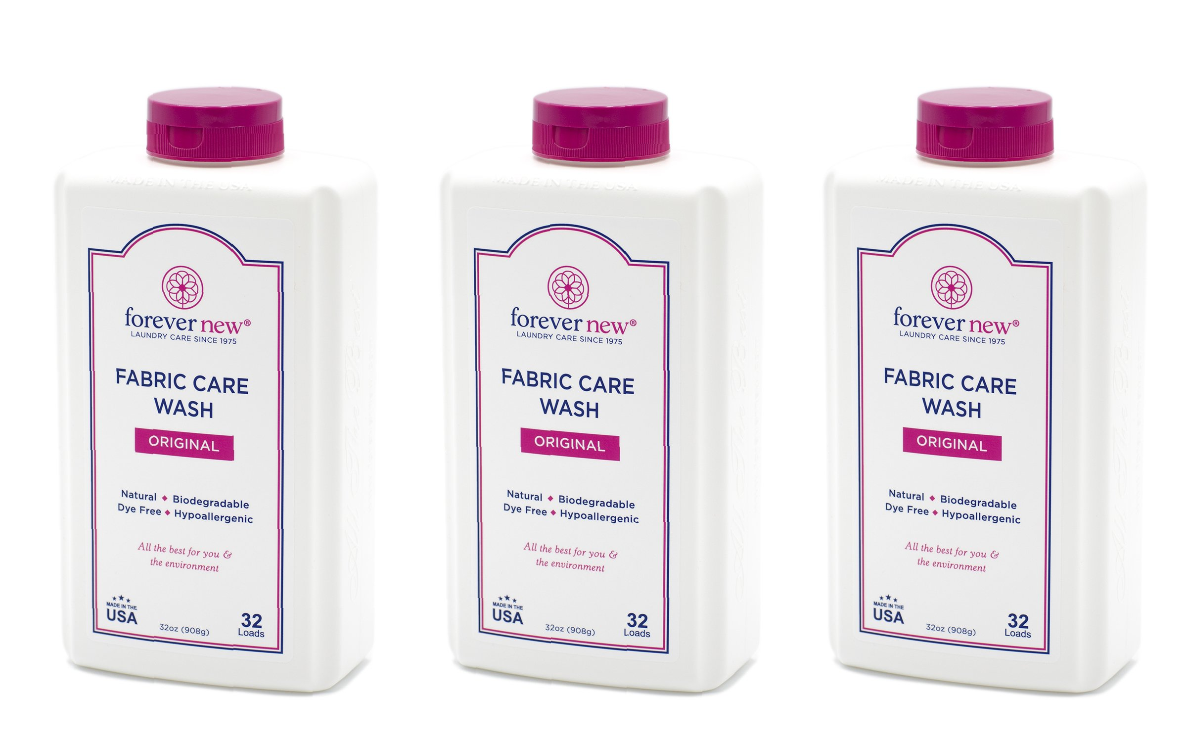 Forever New 32oz Granular Fabric Care Wash 3 Pack (96oz Total)