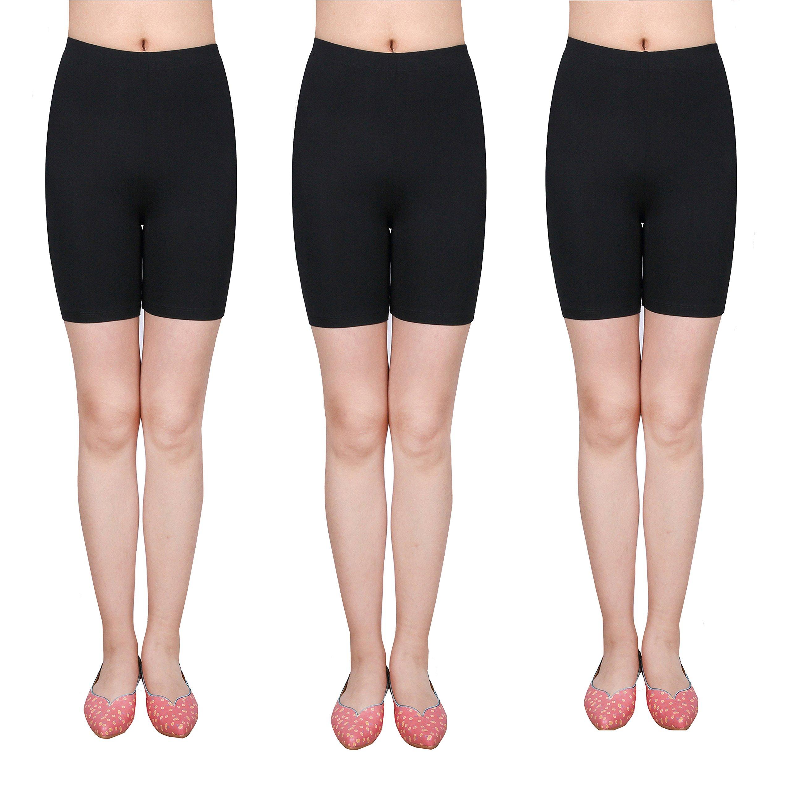 IRELIA 3 Pack Cotton Girls Bike Shorts Soft Underwear for Summer Size 6-16 01 XS