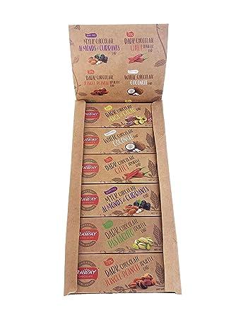 raway Raw Vegan Chocolate – raway Variety Pack – 12 Bares ...